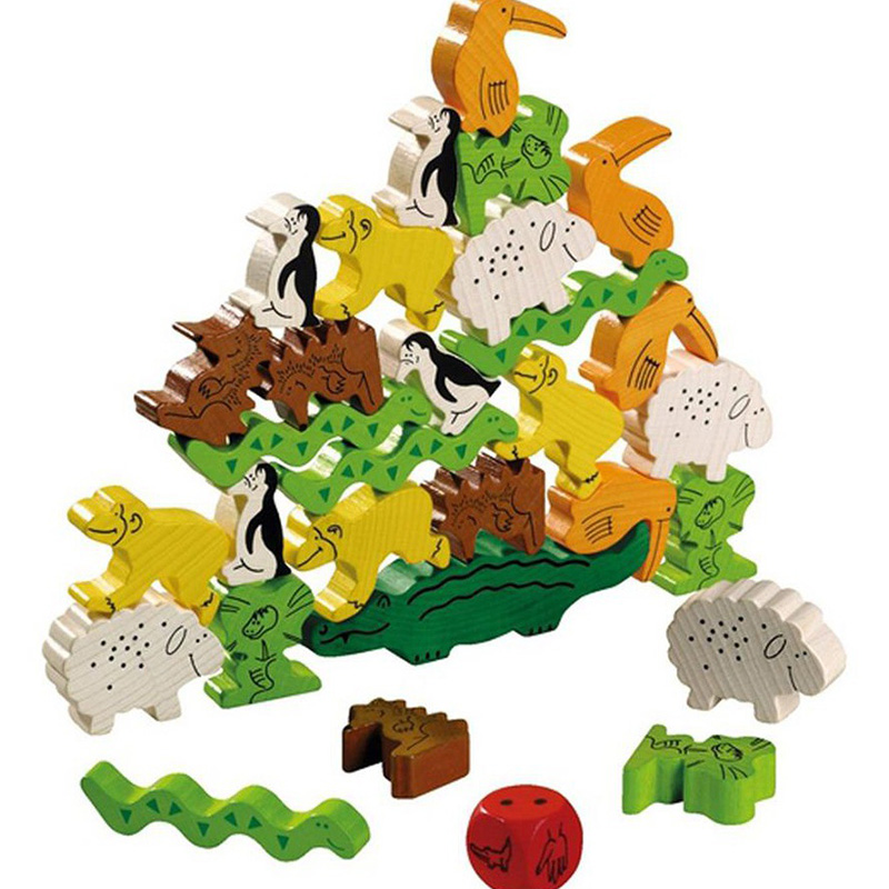 Wooden Game Animal Upon Animal Board Game