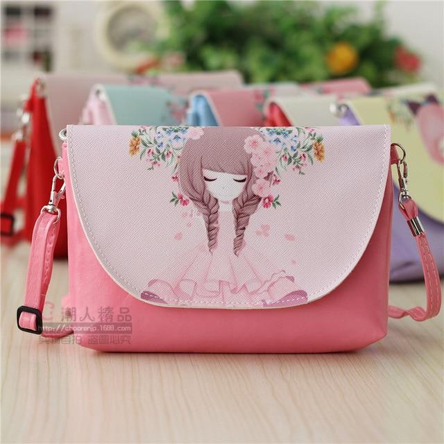 94f8d0b49f42 Горячая Распродажа милый мультфильм холст один сумка для женщин для девочек  Дети Студенты повседневное сумки розовый