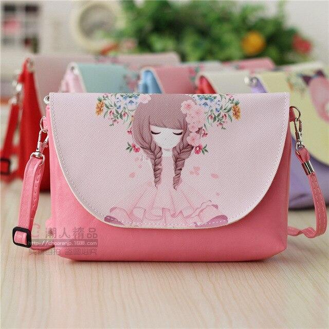 32cf4d6b3c6a Hot sale Cute Cartoon Canvas Single Shoulder Bag Women Messenger Bag Girl  Kids Students Casual Bags Pink Handbag CB170106