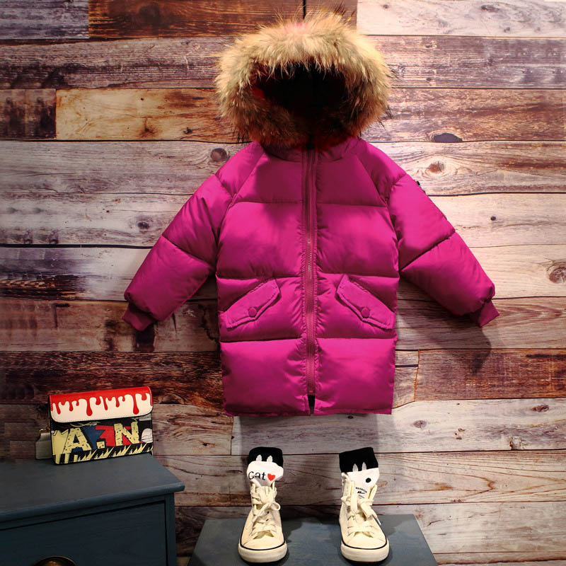 Girls Boys Winter Cotton Down Jacket Kids Warm Parkas Fur Coat Kids Clothes Hooded Jackets for Boy Girl Outerwear Size 3-14Y children coats girl warm outerwear jacket autumn winter hooded coat teenager jackets for boys kids boy girls clothes age 2 14y