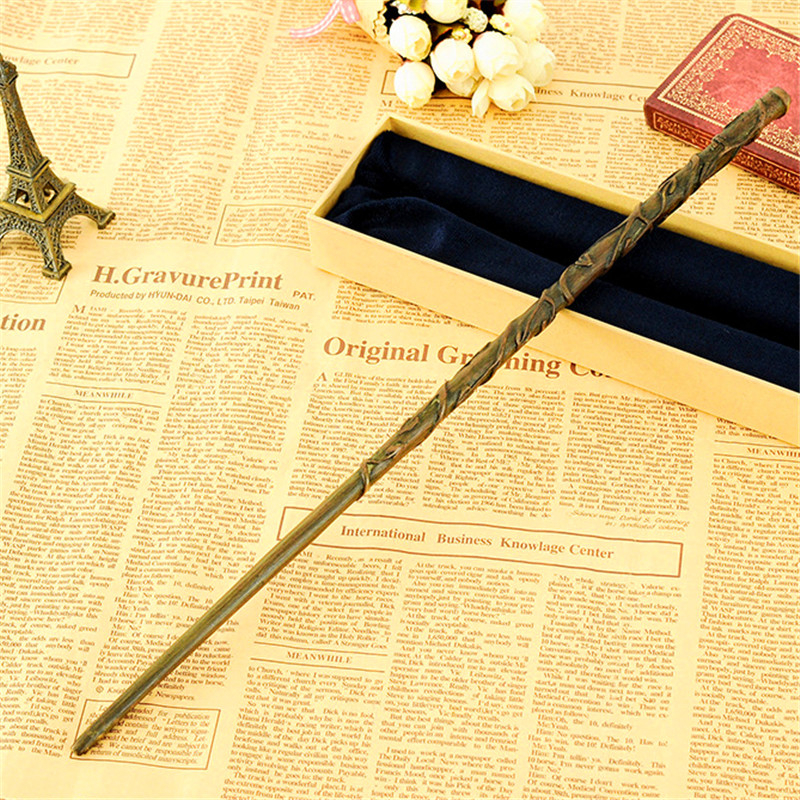 2018 Hermione Granger 38cm Magic Wand Metal Core Harry Potter Magical Wand High Quality Gift ...