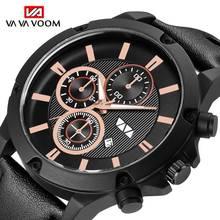 Reloje 2019 Men Watch Male Leather Automatic date Quartz Watches Mens Luxury Brand Waterproof Sport Clock Male Relogio Masculino недорого