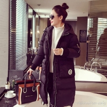 Woman Embroidered Winter Warm Cloak Windcheater Hooded Cheap Long B Jacket Thick Coat Palto Parka Windbreaker Korean Overcoat
