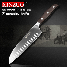 XINZUO 7 inch Japanese chef knife German steel kitchen knife super sharp santoku knife rosewood handle kitchen tool free shiping