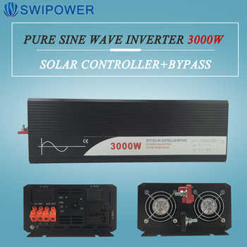 pure sine wave solar power inverter 3000w 12V/24V DC to AC 120V/220V with solar controller with bypass - DISCOUNT ITEM  33% OFF All Category