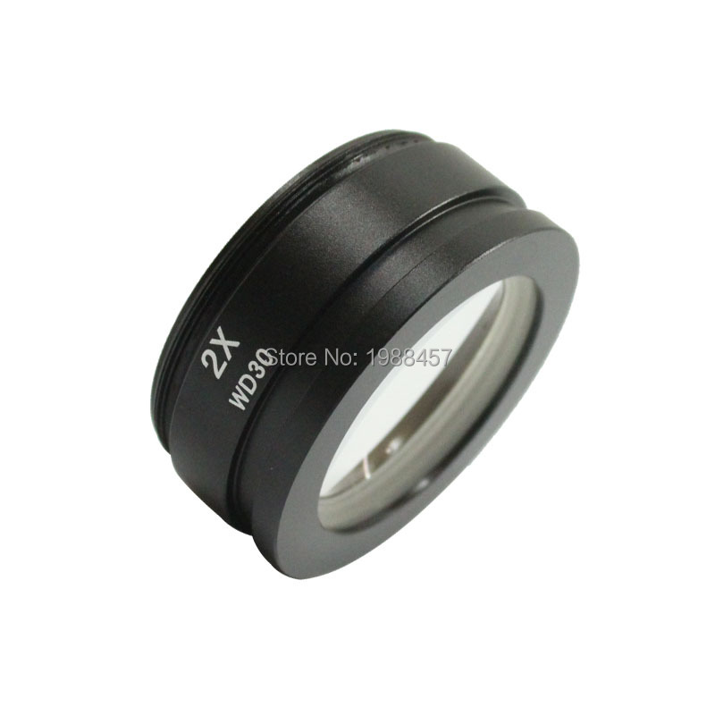 цены  Free shipping !! SZ M2.0X Auxiliary Objective Lens For Stereo Zoom Microscope (SZ M7045)