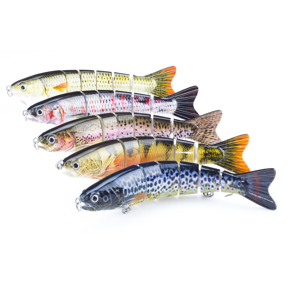 Buy SEALURER 1Pcs/lot 13cm 21g Fishing Lures Lifelike Multijointed 6-segement Pike Fishing Lure Fake Fish Bait for $4.41 in AliExpress store