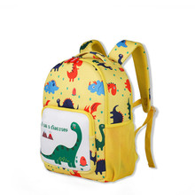 Kindergarten childrens dinosaur school bag 3-6 years old anti-lost cartoon backpack bookbag  women back pack