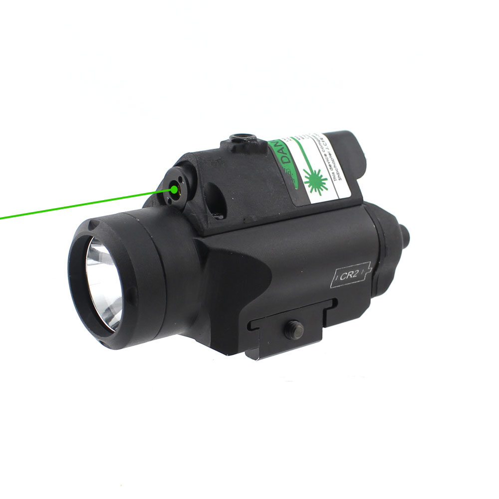 Compact Tactical Red Green Laser Sight Pistol LED Flashlight Gun Laser Light for Standard Rail high quality 2 in 1 tactical insight red laser cree q5 led 300 lumen flashlight sight combo for pistol gun 2x3v cr123a