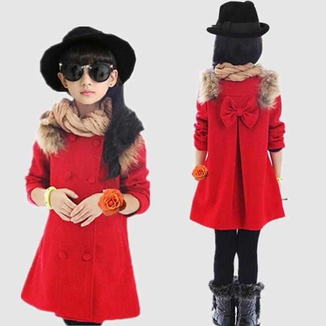 740bb2a69bdd Autumn kids Clothes Coat Wool Blends Overcoat 2018 winter Children ...