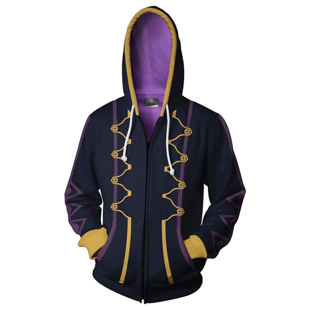 Fire Emblem Robin 3D Printed Sweatshirt Hoodie Halloween Cosplay Jacket Coat Hot