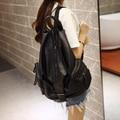 Рюкзак женский осень 2016 новый мешок моды промытые кожи рюкзак отдыха и путешествий сумка школьный