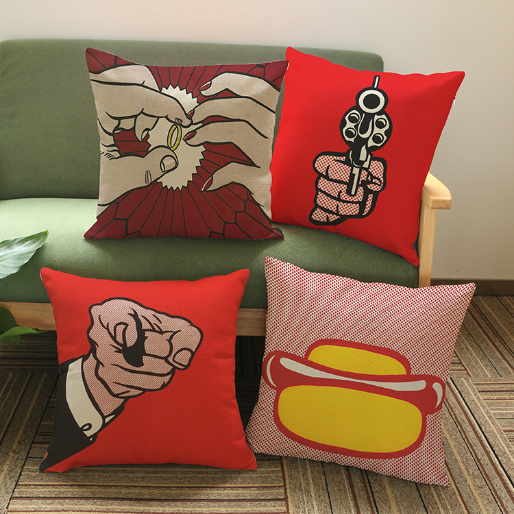 luxury home decoration outdoor Car sofa chair seat cushion cushions pillow With Of Pop Art Posters 45*45cm pattern printing