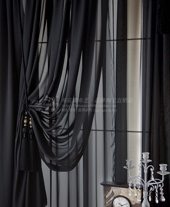 Popular Black Sheer Curtains-Buy Cheap Black Sheer Curtains lots ...