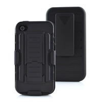 Duty Armor Case For IPhone 4s Case Stand Belt Clip Hybrid Outdoor Hoesjes Black Cover For