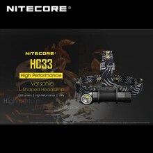 2018 Nitecore HC33 CREE XHP35 HD LED 1800 루멘 매일 사용을위한 다목적 고성능 L 자형 전조등