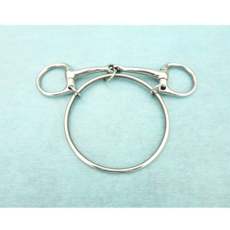 5 Inch Stainless Steel Horse Racing Bit Dexter Ring Racing Bit