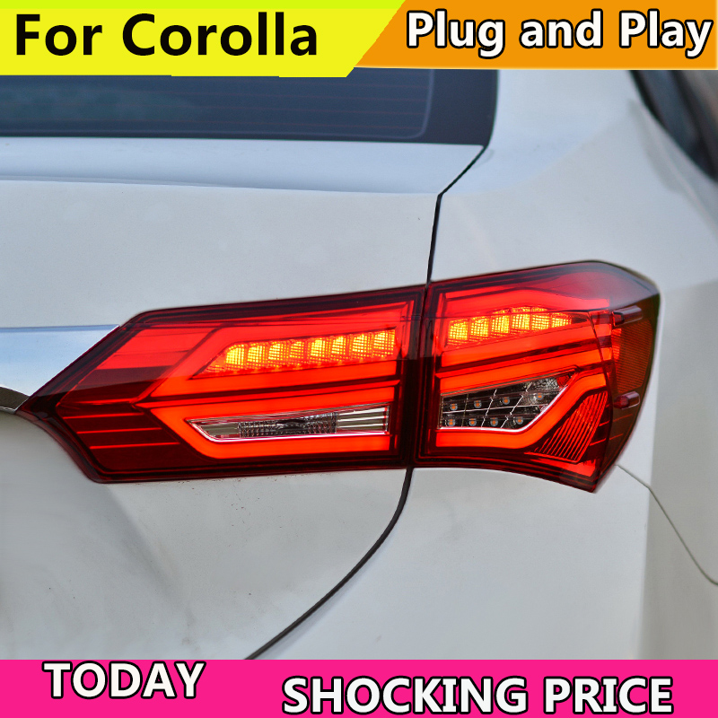 doxa Car Styling For Toyota Corolla Altis Rear Lamp for 2012 2018 LED Carolla taillight DRL