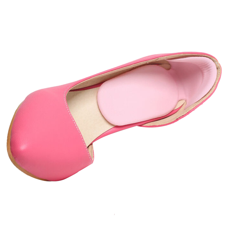 silicone gel insoles for shoes pads foot care high heel protector cushion shoe insoles inserts (Pink)