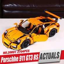 LEPIN 20001 technic series 911 GT3 RS Model Building Kits Mini figures Blocks Bricks Boy Toys Compatible With 42056 legoe