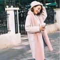 Осенью и зимой утолщение теплый шерстяной шарф Сплошной цвет женщины платок Двойного назначения студентов диких шарф