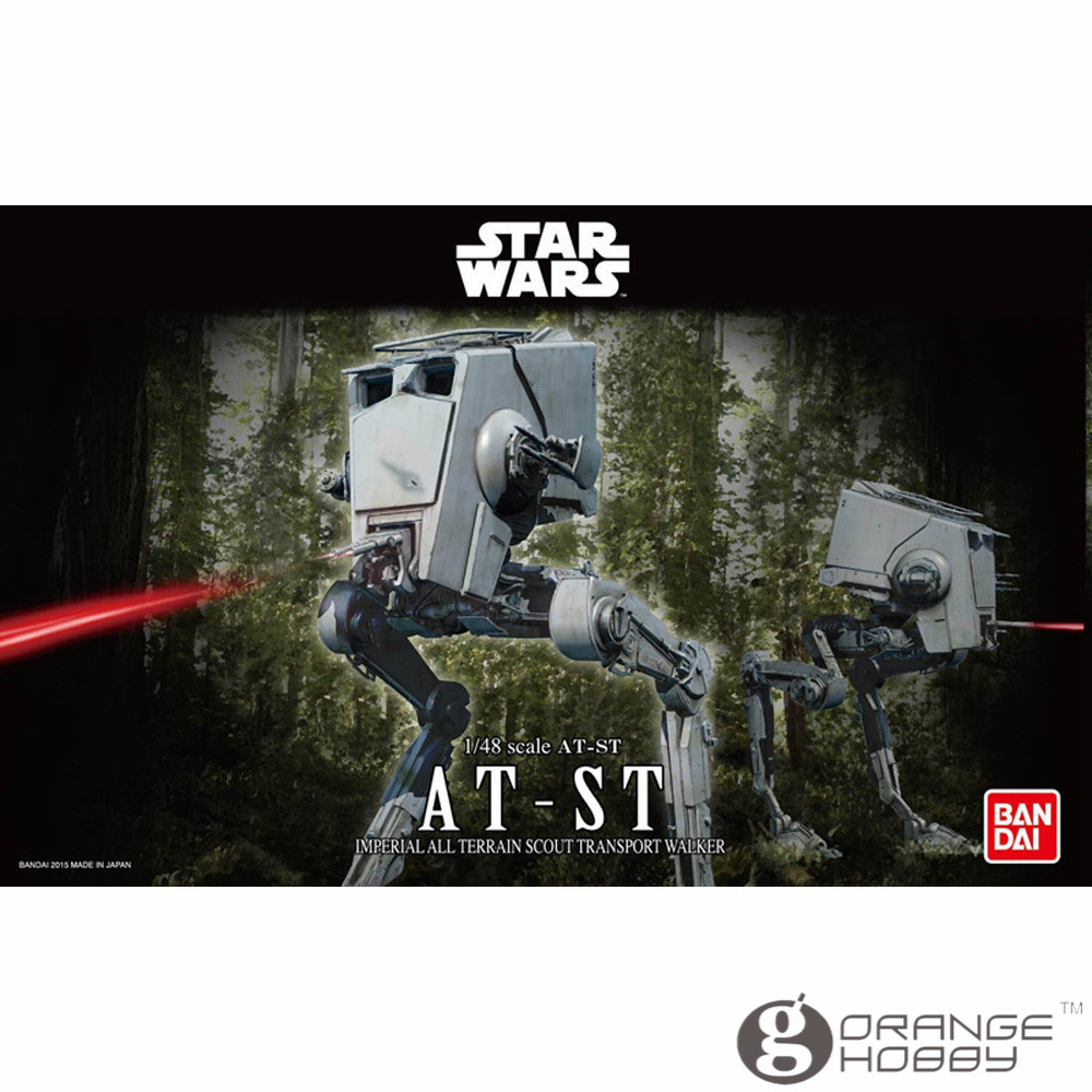 OHS Bandai Star War 1 48 AT ST Assembly Model Kits oh