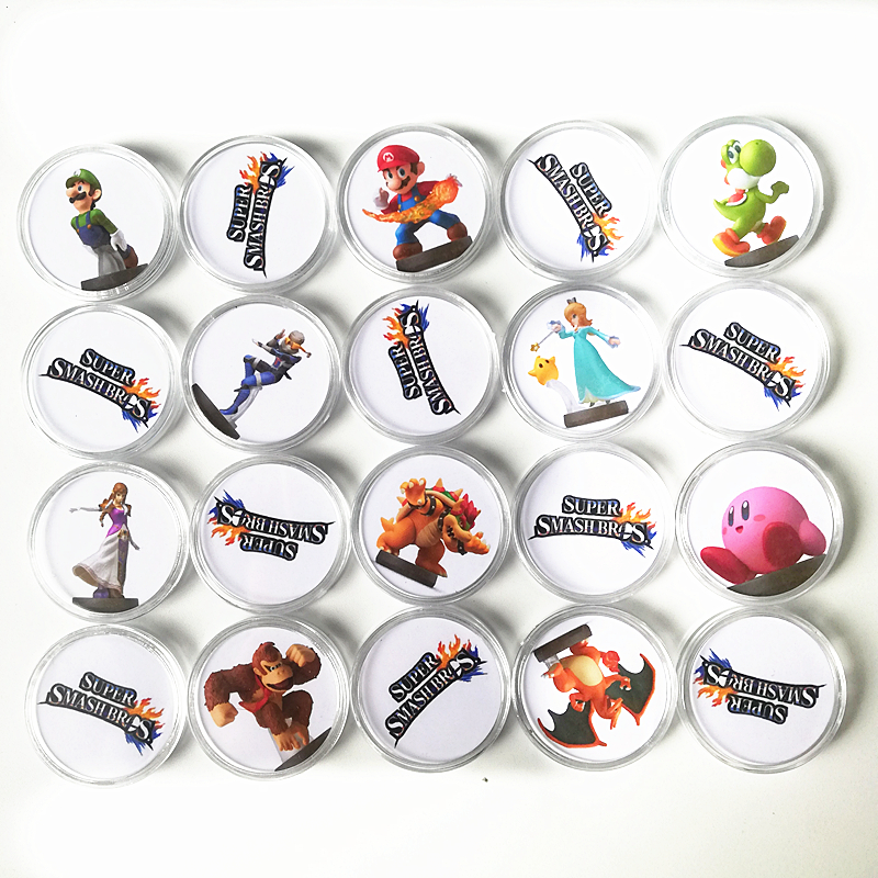 20Pcs/set NFC Games Card Of Amiibo For Super Smash Bros Switch NS NFC Tag Collection Coin Printed Sticker Ntag215 Fast Shiping