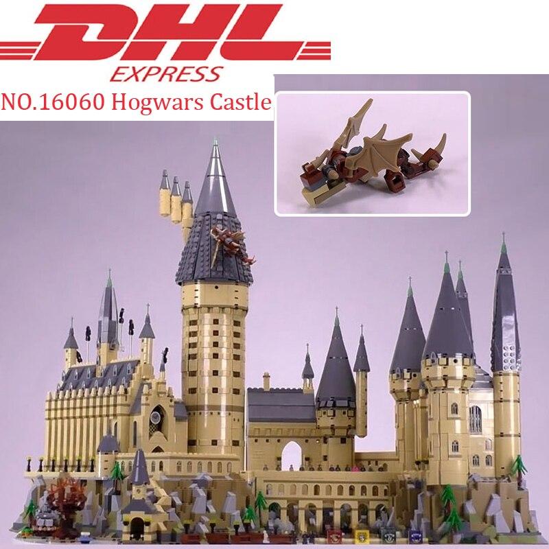 Lepin 16060 6742 pcs Hogwars Château Ensembles Modèle Kits de Construction Blocs Briques Éducatifs Jouets Pour Enfants Compatible Legoing 71043