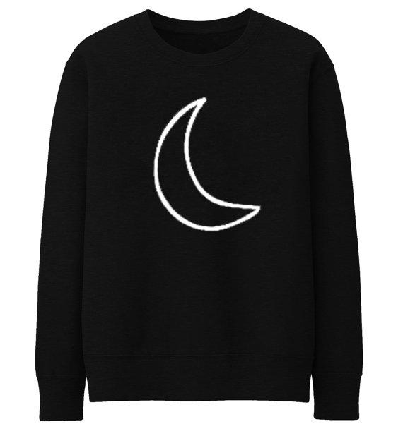 Crescent Moon Letters Druck Frauen Sweatshirts Casual Hoody Für Die Dame Lustig Hipster Straße Drop Ship ZT-102