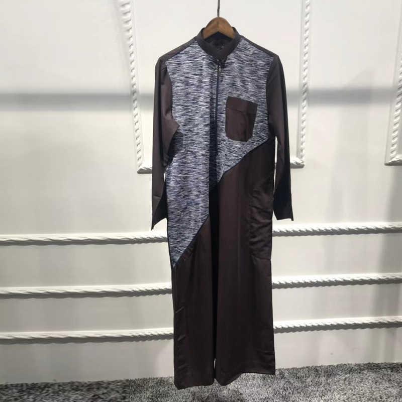 อาหรับ Abaya Homme ปากีสถานซาอุดีอาระเบียชุดมุสลิมโอมานอิสลามเสื้อผ้าผู้ชาย Caftan Marocain Ropa อาหรับ Hombre Elbise Erkek