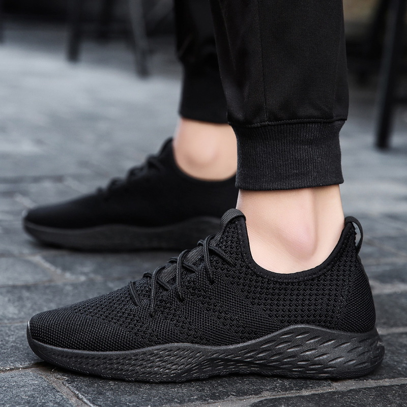 YeddaMavis Mesh Shoes Men Casual Brand Sneakers Flats Slip On Loafers Fly Knit Breathable Spring Autumn