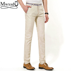 Mwxsd brand summer men casual linen pants men slim fit straight long pants men comfortable cotton.jpg 250x250