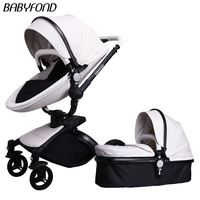 2018 babyfond New Leather Brand Stroller Poussette Baby Baby Stroller For Special Offer 2 in 1 baby car