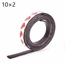 Высокое качество 1 м самоклеющаяся гибкая магнитная лента 3 м резиновая магнитная лента ширина 10 мм толщина 2 мм 10*2