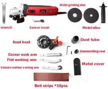 2in1 Handheld Mini Sand Machine Metal Angle Grinder Multifunctional Sander Belt Machine 220V