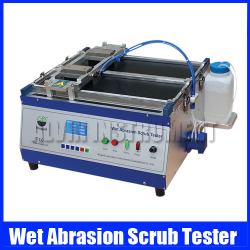 Free Shipping Wet Abrasion Scrub Tester Abrasion and Washability Tester ASTM D2486 ASTM D 3450 DIN