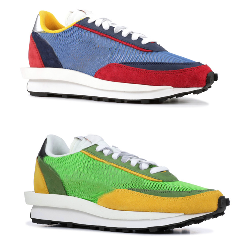 2019 Men LD Waffle Sacai Running Shoes Green Multi Blue Multi Trainers Fashion Breathe Tripe Sneakers Sports Outdoor Shoes