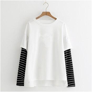 Μπλούζα γυναικεία αντρική με μακρύ μανίκι σε harajuku στυλ exo kpop streetwear μαύρη άσπρη