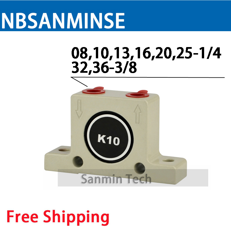 NBSANMINSE Pneumatic Air Vibrator K Series High Quality Pneumatic Ball Vibrator Feed material conveyor vibrating screening games [a2 b1] preguntas encadenadas