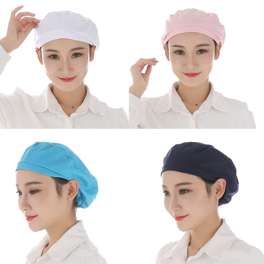 Factory Warehouse Workshop Caps Unisex Elastic Caps Kitchen Restaurant Bakery Waiter Chef Work Wear Men Women Breathable Hats