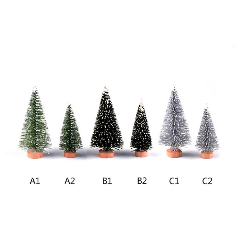 1PC S/L Micro Christmas Tree Christmas DIY Micro Landscape Christmas Tree Eco Bottle Resin Decoration Garden Miniatures 1PC J2