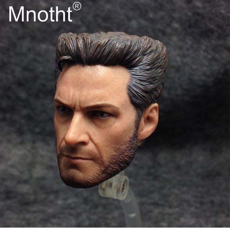 Mnotht 1:6 Scale Hugh Jackman Head Sculpt Model Wolverine X-MAN Male Soldier Head Carving Toys Action Figures m3 mak custom 1 6 scale hugh jackman head sculpt wolverine male headplay model fit 12kumik body figures