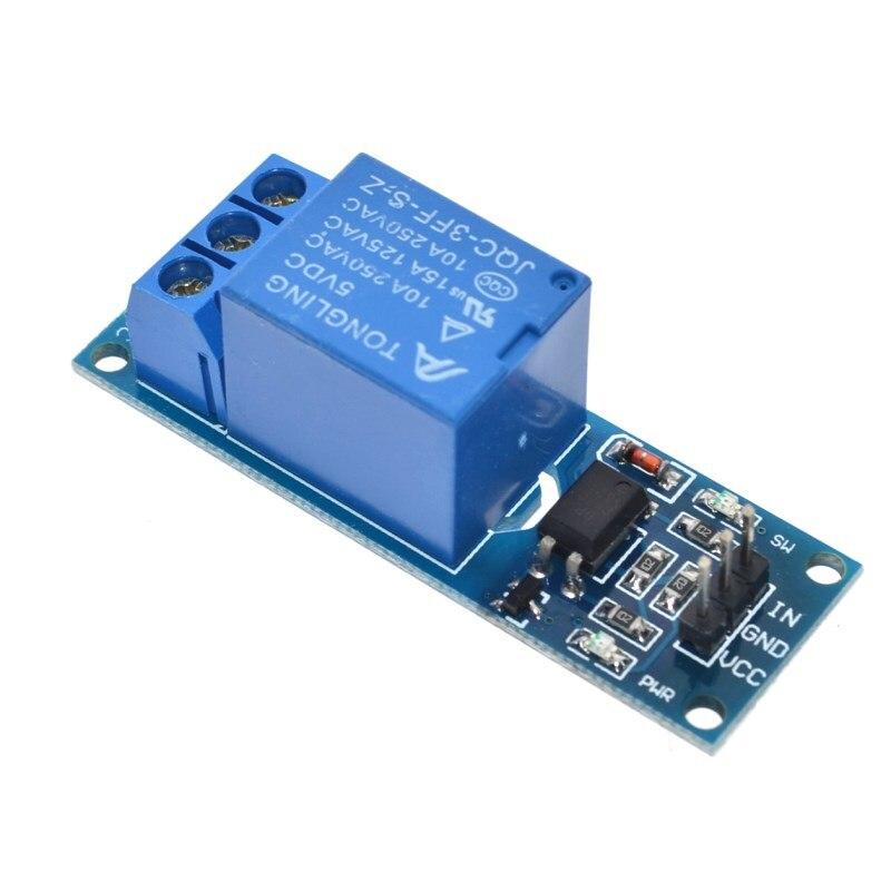 Module de relais 5V à 1 canal avec relais disolement de couplage optique carte dextension MCU déclencheur de haut niveau