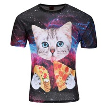 Alisister 2016 new 3d cat t shirt printed animal t-shirt women men Funny clothing harajuku tee shirt Casual Unisex 3d t shir