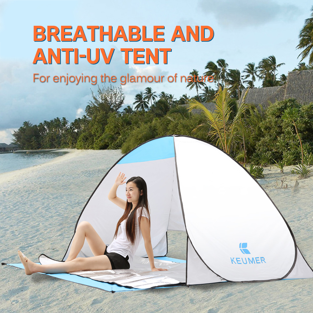 Camping Tent Outdoor Automatic Tents Portable Beach Tent Anti Uv Shelter Pop Up Waterproof Camping Fishing Hiking Picnic Tent