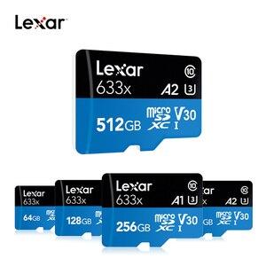 Image 3 - レキサーマイクロ SD 128 ギガバイト 32 ギガバイト 64 ギガバイト 256 ギガバイト 512 ギガバイト 16 ギガバイトのマイクロ SD カード SD/ TF フラッシュカードメモリカード 32 64 128 ギガバイト microSD 電話 633X