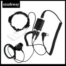FBI Heavy Duty Tactical Military throat mic Headset for Motorola 2 pin GP88 GP300 P040 PRO1150 CLS1110 EP450