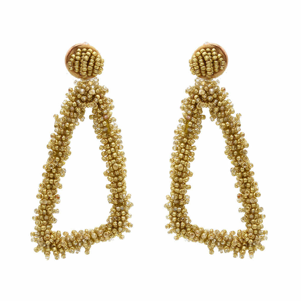 New Women Bohemian sliver ong Earring  Elegant Retro Multicolor Rice Beads Geometric Earrings Ladies Fashion Jewelry 2019 #ZF