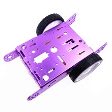 Aluminum alloy car Intelligent Robot car alloy chassis 2 wheel car DIY new 1*2WD Aluminum Car New Education Toys