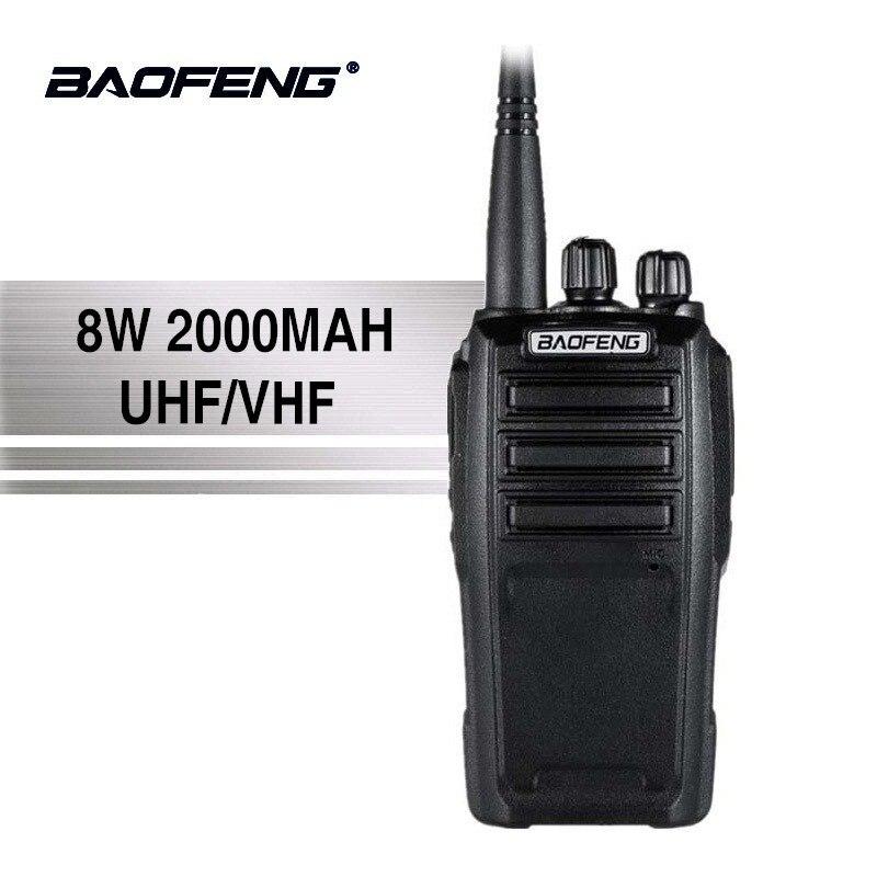 Baofeng UV-6 Nuovo Arrivo 8 w 128 Canali Walkie Talkie di Alta Potenza A Lunga Standby UHF/VHF Dual Band Two way Radio Woki Toki 50 km